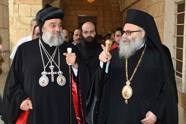 Patriarch John X and Patriarch Ignatius Ephrem II, August, 2014