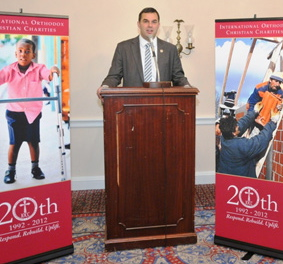Rep. Justin Amash of Michigan speaks at IOCC Gala reception