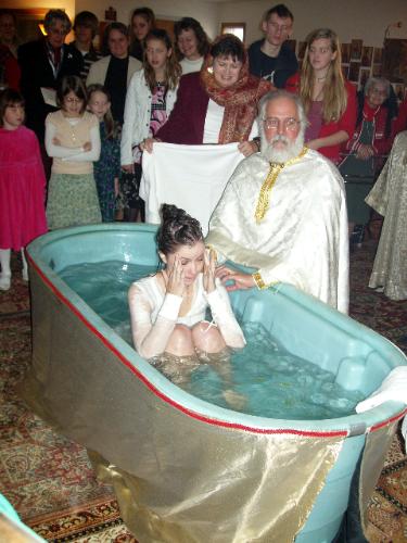 Rebecca Whirldedge's baptism.