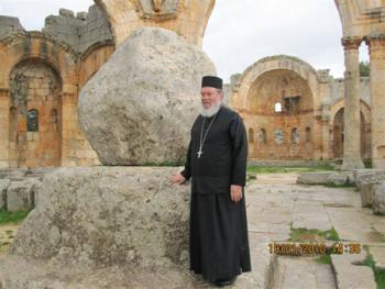 North Syria: At the remains of the column of St. Symeon the Stylite
