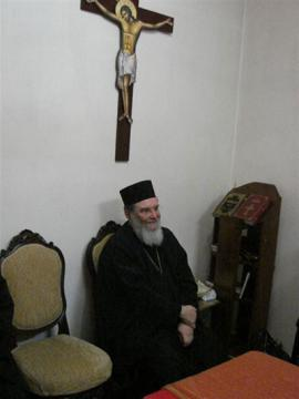 Aleppo: Bishop Basil meeting college students at Chancery
