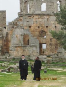 North Syria: With Fr. Romanos at Church of St. Symeon the Stylite