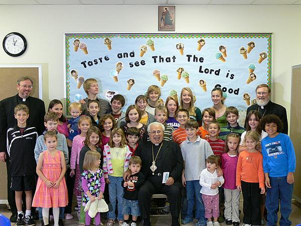 Bishop ANTOUN with Children + All Saints, Raleigh NC