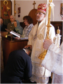 Bishop THOMAS ordaining George Lowen