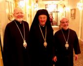 Bishop THOMAS with Bishop JOSEPH and Metropolitan PHILIP at the General Assembly