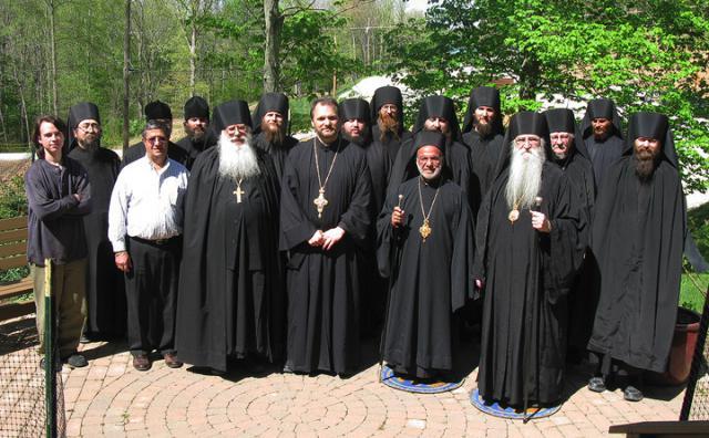 Bishop THOMAS visits Holy Cross Monastery in Wayne, West Virginia