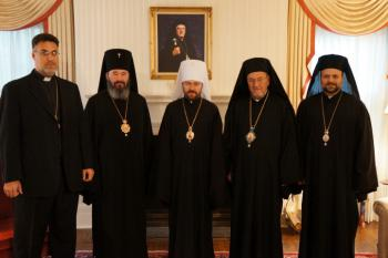 Very Rev. Thomas Zain, Archbishop Justinian, Met. Hilarion, Met. Philip, Bishop Nicholas