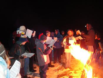 Convent of St. Thekla Middle School Retreat: Campfire
