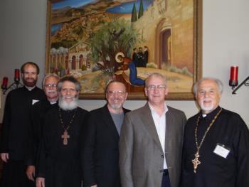 Fr. Jeremy Davis, Deacon Ezra Ham, Fr. James Bernstein, Matthew Gallatin, John Maddex and Fr. Constantine Nasr