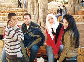 Current students at the Lebanese American University.