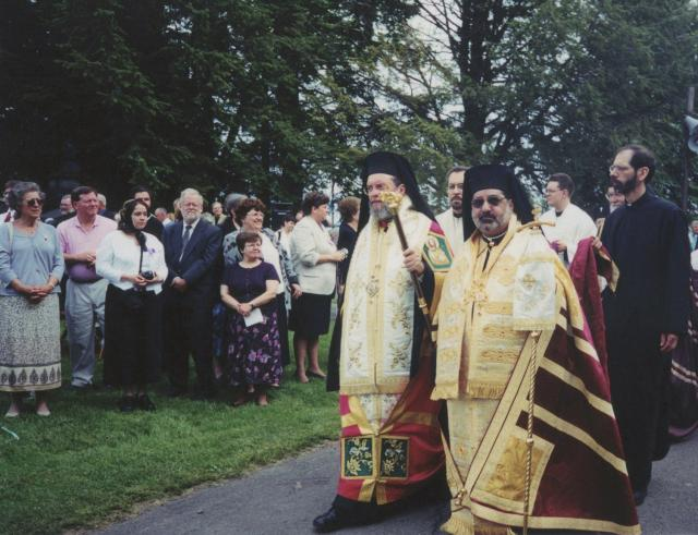 Bishop Basil and Bishop Demetri (Retired) of the Antiochian Orthodox Christian Archdiocese