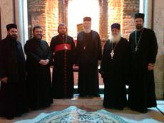Homs: with the Syriac Bishop at Church of Imm az-Zonar