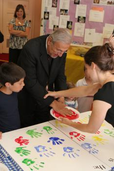 His Eminence Adds His Handprint