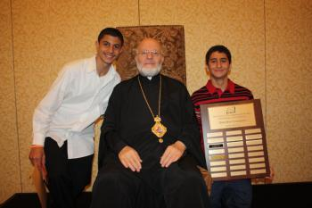 Bible Bowl winners with His Grace, Bishop Joseph