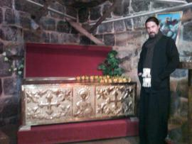 Izraa 6th C. Church of St. George with his reliquary