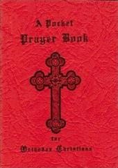 Little Red Prayer Book Button