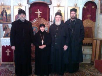 Maaloula: with Met. SABA of Hauran and Mother Pelagia