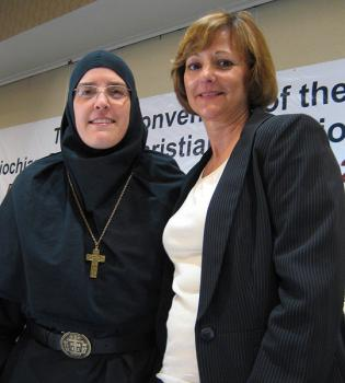 Mother Alexandra and Cindy Nimey