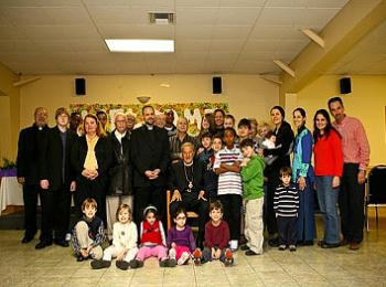 A group picture of a few of the Sunday School children with His Eminence and a few of the teachers, on Saturday morning