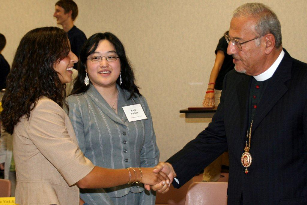 Metropolitan Congratulates one of the Archdiocese Bible Bowl Winner