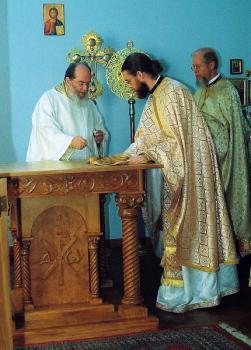 Bp BASIL, Fr. Daniel Bethancourt and Fr. John Bethancourt