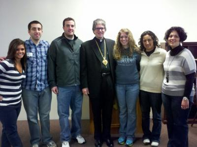 Young adults from St. George in Akron reunite with Sayedna Anthony, their former youth director