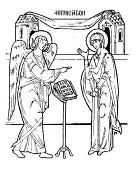 Annunciation (Black and White)