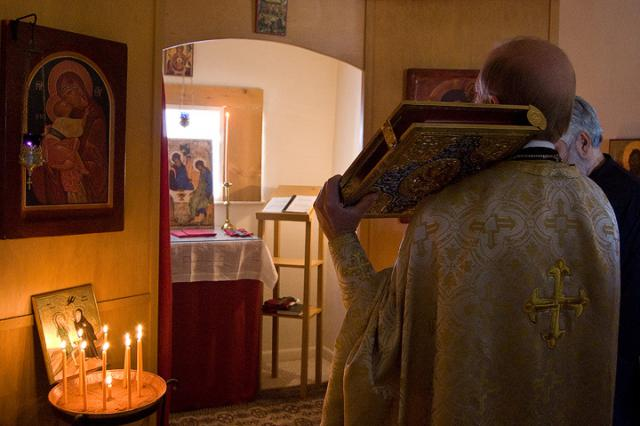First Divine Liturgy at Holy Annunciation Chapel + Taos, NM