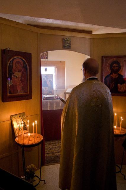 Fr. John Bethancourt Celebrates the First Divine Liturgy in Taos, NM