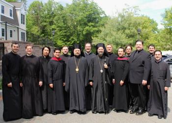 Met. Silouan, Bp. Nicholas, and St. Vladimir's seminarians