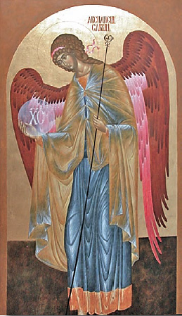 Icon of St. Gabriel by Janet Jaime