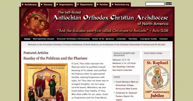 Archdiocese Website Design, 2009-2014