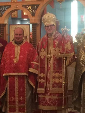 Diocese of Toledo clergy with Bishop Anthony