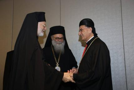 At the banquet with Patriarch Rai (photo: Andre Christoforides)