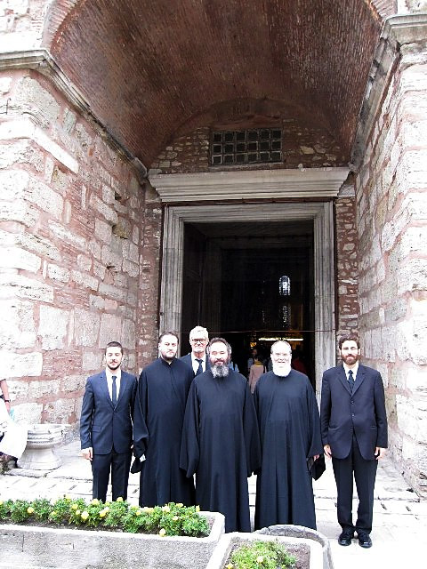 Before the Main Entrance to Hagia Sophia