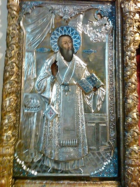 Icon of St. Photios the Great in Holy Trinity Chapel, Halki