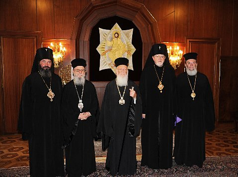Archbishop Justinian, Abp. Demetrios, His All Holiness, Abp. Antony and Bp Basil