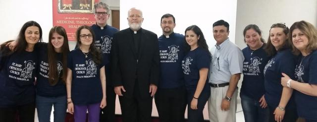 Bible Bowl team with Metropolitan Joseph and Bishop Anthony