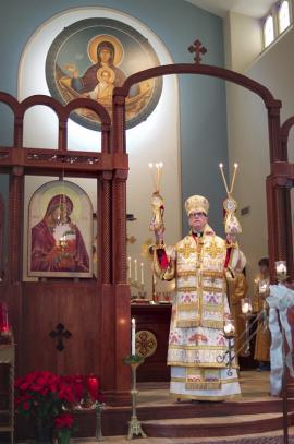 Bishop Anthony Visits St. Nicholas Church + Cedarburg, WI