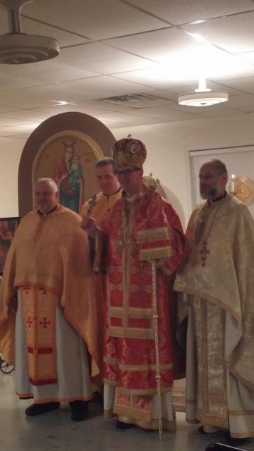Bishop Anthony with St. Ananias clergy