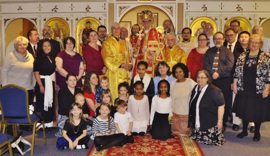 Bishop Anthony with the community of St. Mary of Egypt in Greenwood, IN