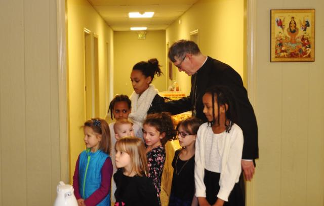 Bishop Anthony with children of St. Mary of Egypt