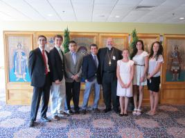 Bishop John with Oratorical contestants