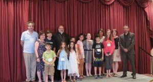 Award winners with Bishop John