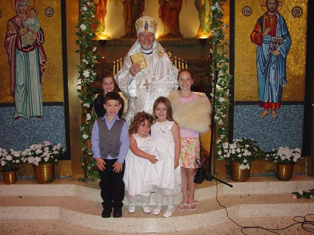 Bishop Joseph with Children