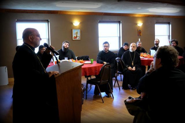Bishop Thomas visits St. Tikhon's Seminary, November, 2014