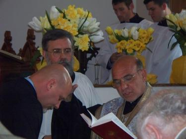 His Grace prays over newly tonsured Reader Jude Hobbs