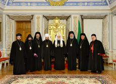 Meeting with Patriarch Kirill and Syrian bishops, Oct. 8, 2013
