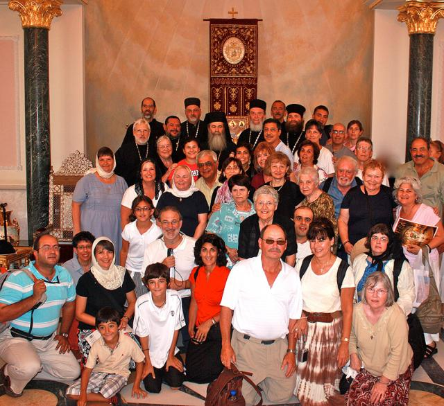 Pilgrims with His Beatitude Patriarch THEOPHILOS III