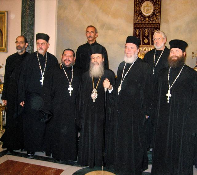 Clergy with His Beatitude Patriarch THEOPHILOS III